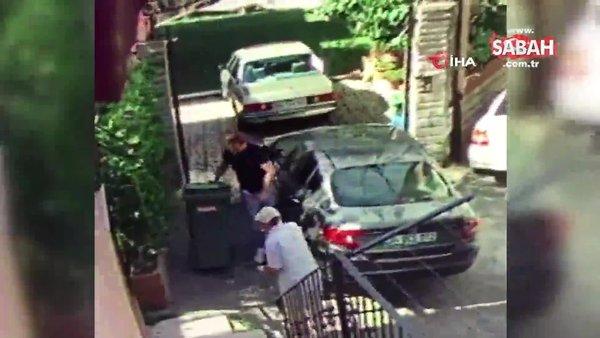 Beykoz'da dehşet anları kamerada...Kadına sopa ile saldırdı | Video
