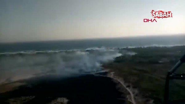 Antalya Kaş'ta sazlık alanda yangın | Video