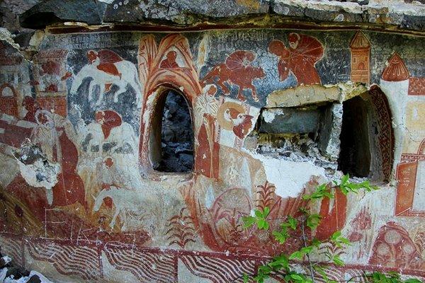 Sümela'daki çile odaları gün yüzüne çıktı