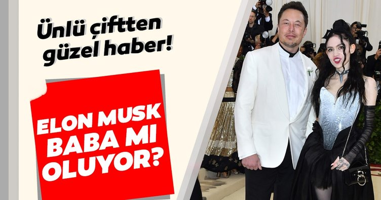 Elon Musk baba mı oluyor? Elon Musk ve şarkıcı sevgilisi Grimes'dan güzel haber!