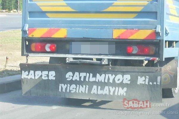 Trafikte o yazıyı görünce...
