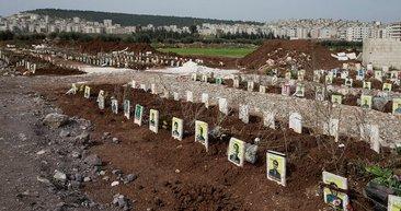 Afrin'de teröristlerin bulunduğu mezarlık görüntülendi! İşte o terörist mezarlığı