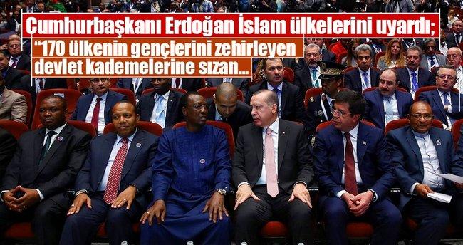 Cumhurbaşkanı Erdoğan İslam ülkelerini FETÖ konusunda uyardı