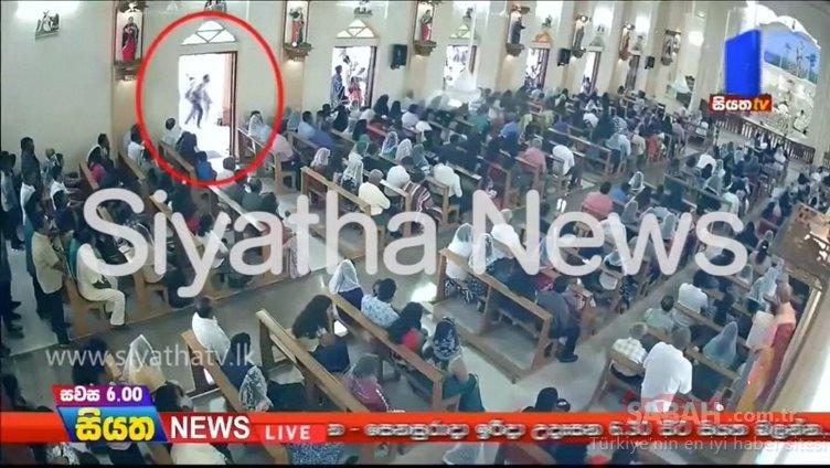 Son dakika: Sri Lanka saldırılarında bir şüphelinin görüntüsü güvenlik kamerasına yansıdı
