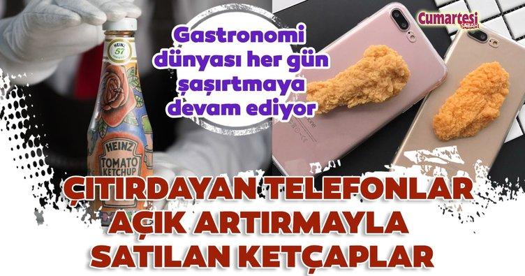 Çıtırdayan telefonlar açık artırmayla satılan ketçaplar