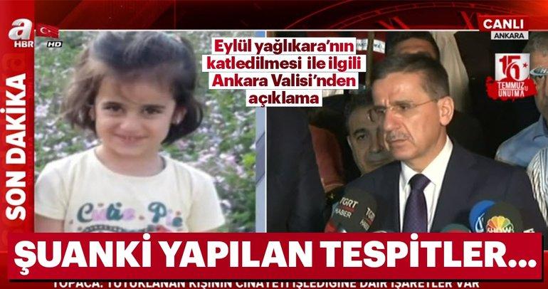 Son dakika: Eylül Yağlıkara olayıyla ilgili Ankara Valisi Ercan Topaca açıklama yaptı