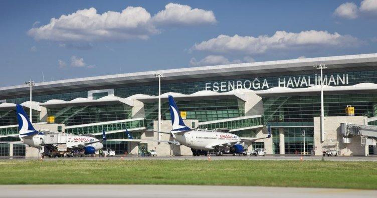 Esenboğa Havalimanı'nda 6 ayda 7 milyon yolcuya hizmet verildi