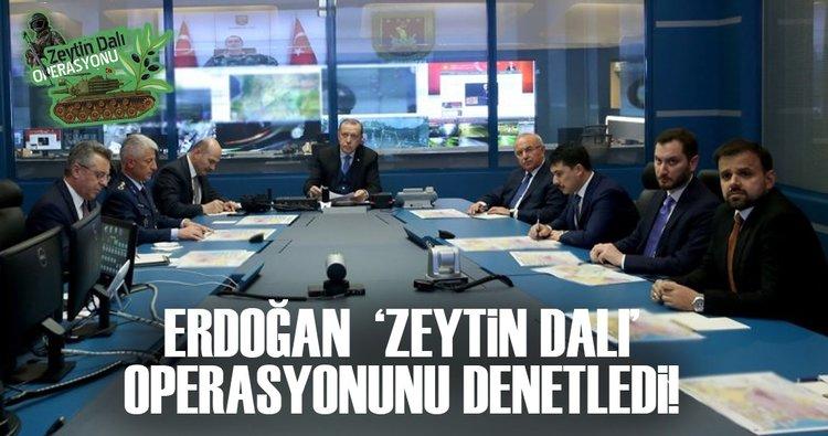 Cumhurbaşkanı Erdoğan, askeri yetkililerden bilgi aldı