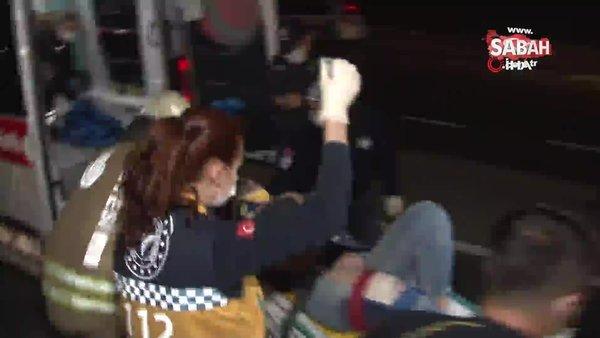 İstanbul Sarıyer'de feci kaza...Hurdaya dönen araçtan böyle çıkarıldılar | Video