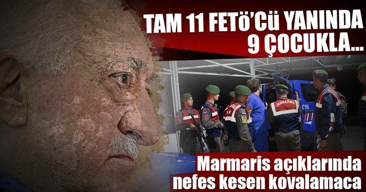 Marmaris'te FETÖ/PDY mensubu 11 kişi Yunanistan'a kaçarken yakalandı
