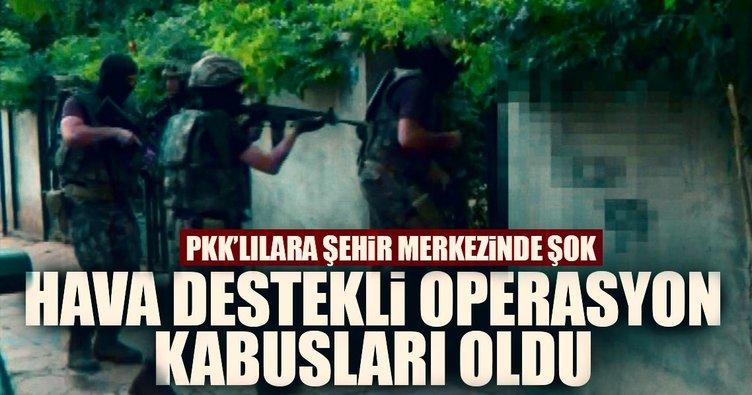 Gaziantep'te hava destekli terör operasyonu: 12 gözaltı