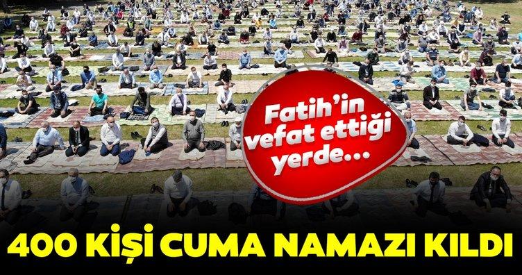 Fatih Sultan Mehmet'in vefat ettiği yer olan Hünkar Çayırı'nda Cuma namazı kıldı