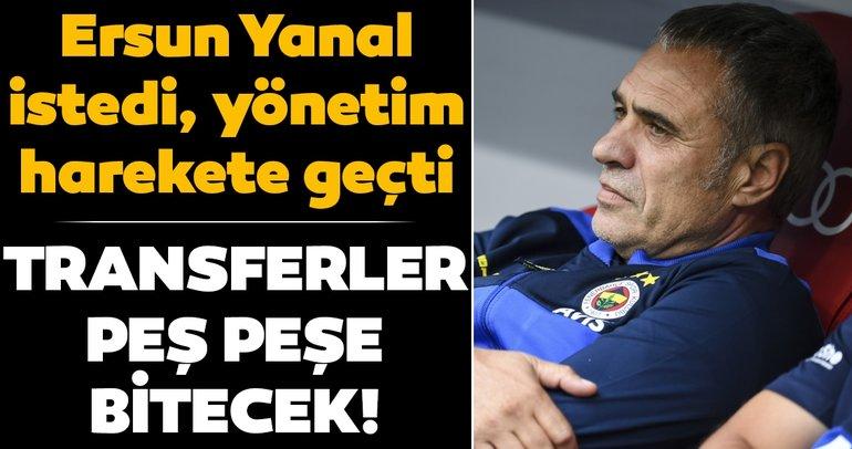 Son dakika:Fenerbahçe'de transfer bombaları peş peşe patlayacak! Ersun Yanal istedi, yönetim harekete geçti...
