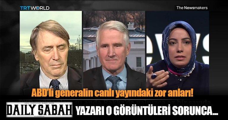 Türk gazeteci PKK - PYD ilişkisini reddeden ABD'li generali canlı yayında zor durumda bıraktı!