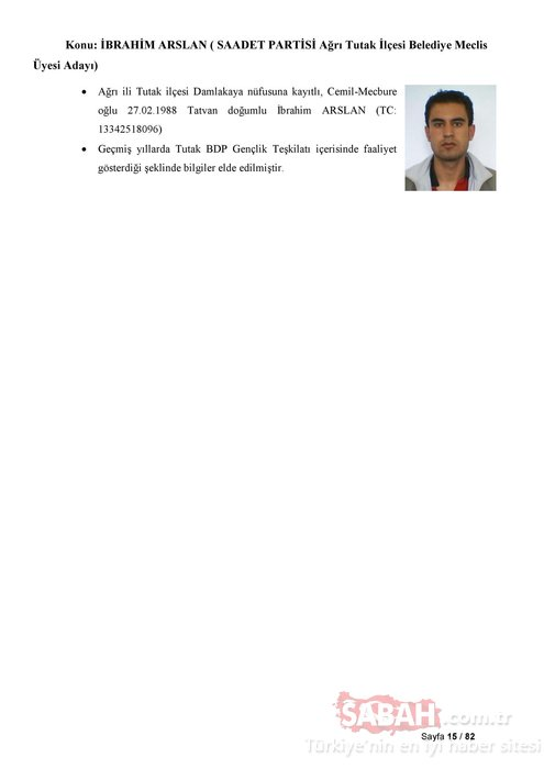 İşte Saadet Partisi'nin listelerindeki PKK'lı adaylar!