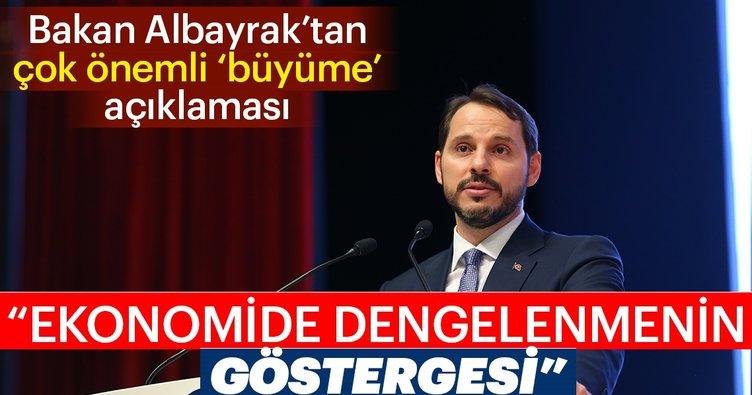 Son dakika: Bakan Berat Albayrak'tan çok önemli büyüme açıklaması