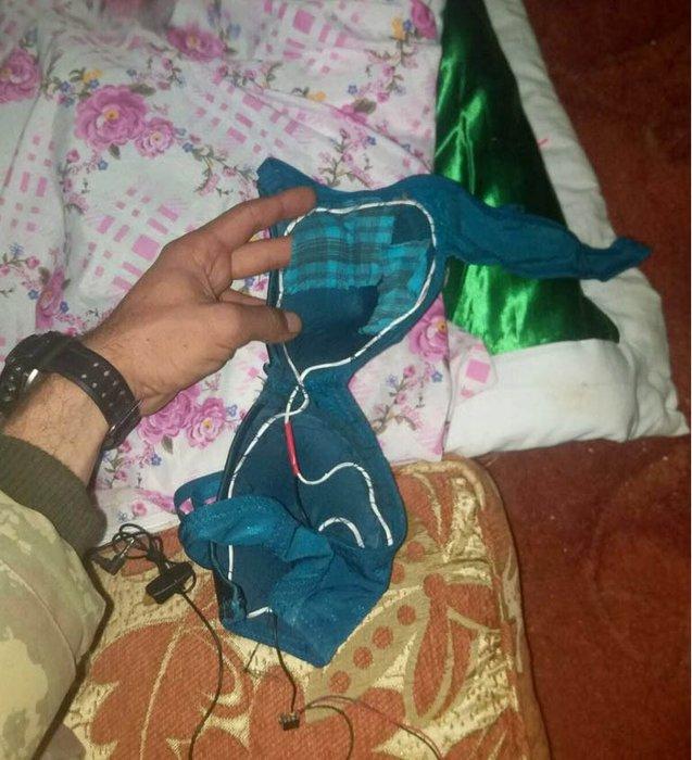 Afrin'de teröristlerin sütyen tuzağı