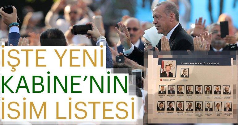 Başkan Erdoğan Yeni Kabine'yi açıkladı | İşte Yeni Kabine'nin ilk isimleri