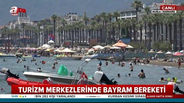 Turizm merkezlerinde bayram bereketi | Video