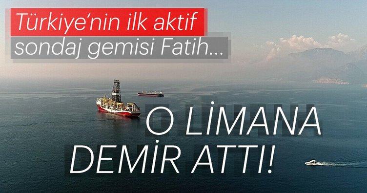 Türkiye'nin ilk sondaj gemisi Fatih Antalya'ya ulaştı