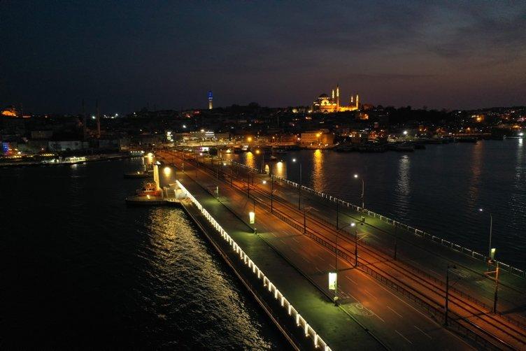 İstanbul'da korona sessizliği! Havadan görüntülendi...