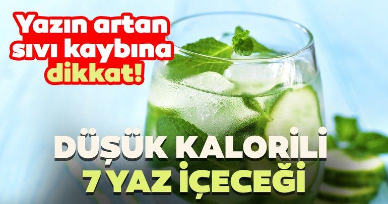Düşük kalorili nefis yaz içeceği