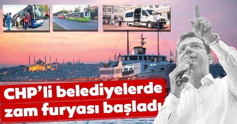 CHP'li belediyelerde zam furyası başladı