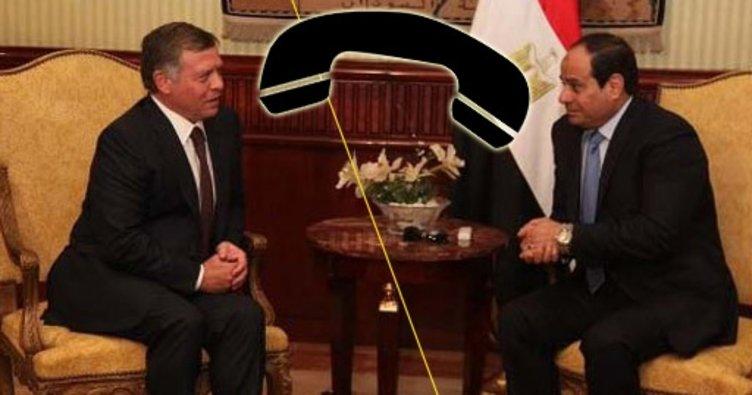 Ürdün Kralı Abdullah ile Mısır Cumhurbaşkanı Sisi telefonla görüştü