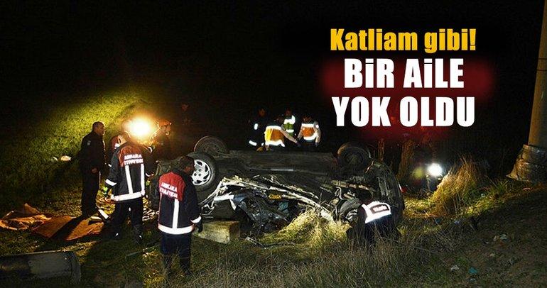 Ankara Çubuk'ta katliam gibi trafik kazası: Aynı aileden 3 kişi öldü, 2 kişi yaralandı