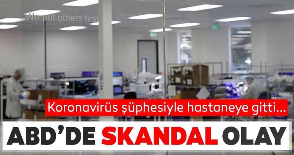 ABD'de skandal olay! Corona virüs şüphesiyle hastaneye giden kişiyi ölüme terk ettiler