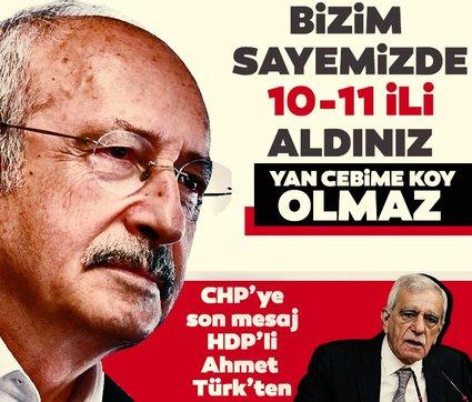 HDP'li Ahmet Türk'ten CHP'ye: Bizim sayemizde 11 il aldınız! Yan cebime koy olmaz...