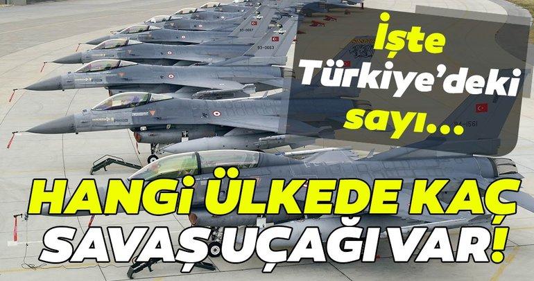 Hangi ülkenin kaç tane savaş uçağı var? İşte ülkelere göre savaş uçakları sayıları!