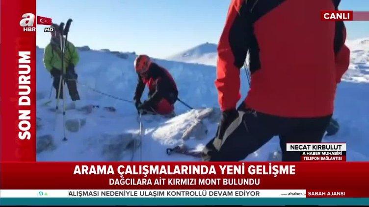 Bursa'da kaybolan dağcılara ait kırmızı renkli mont bulundu!