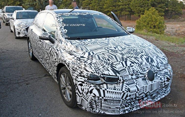2020 Volkswagen Golf işte böyle görünüyor! Yeni Golf'ün iç kısmına ait casus fotoğraflar yayınlandı