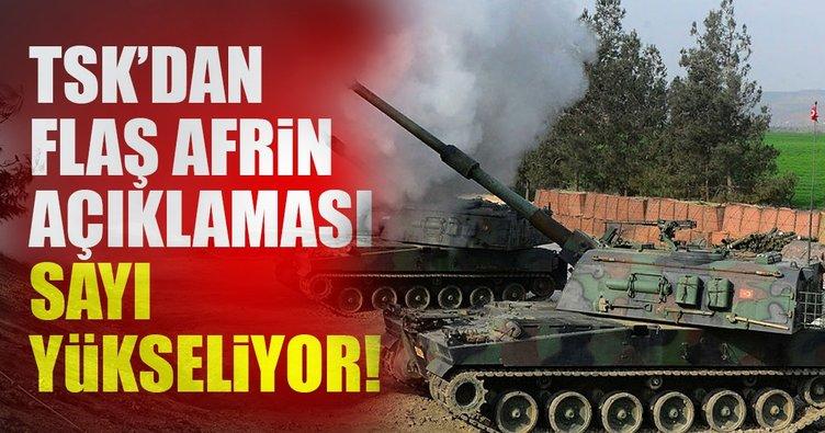 Son dakika: TSK'dan flaş Afrin açıklaması!