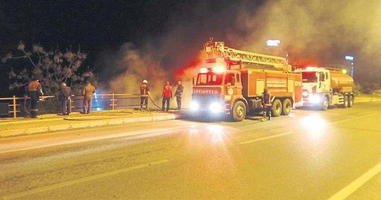 Makilik alanlarda çıkan yangınlar korkuttu