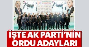 Cumhurbaşkanı Erdoğan, AK Parti Ordu adaylarını açıkladı!