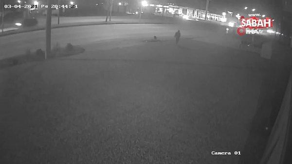 Moto kuryenin hayatını kaybettiği feci kaza kamerada   Video