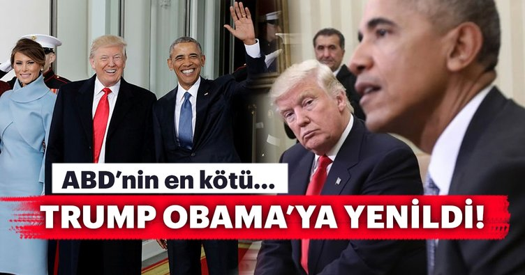 Trump, Obama'ya yenildi!