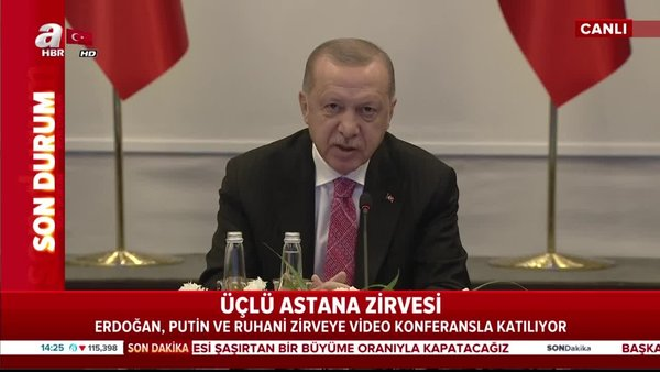 Son dakika: Cumhurbaşkanı Erdoğan'dan Putin ve Ruhani'nin katıldığı kritikİdlib Zirvesi'nde flaş açıklamalar | Video