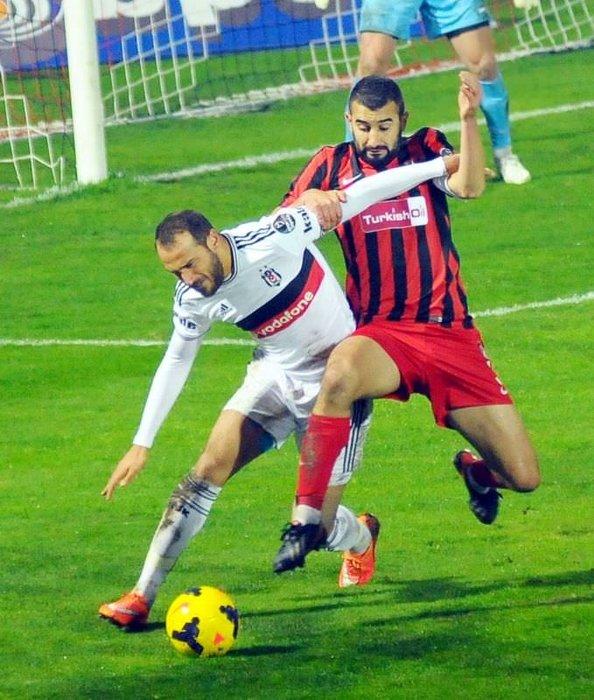 Gaziantepspor - Beşiktaş maçından kareler