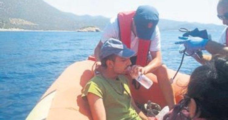 Rahatsızlanan tatilci kurtarıldı