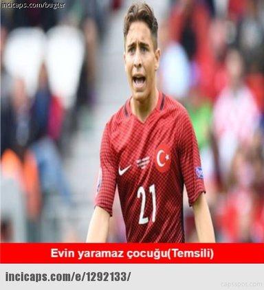 Türkiye-Ukrayna maçı capsleri