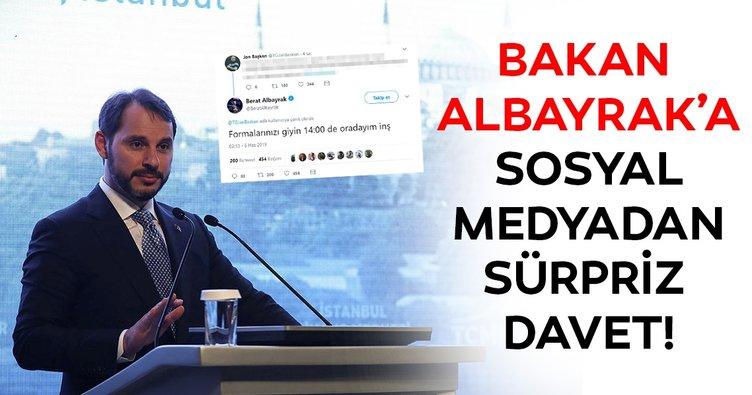Bakan Berat Albayrak'a sosyal medyadan sürpriz davet!