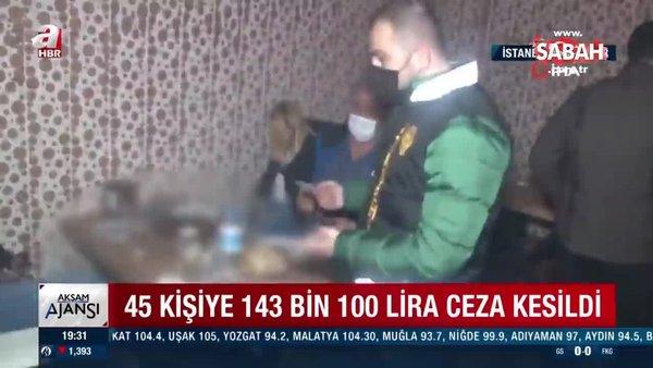 İstanbul'da doğum günü partisi için bir araya gelen 17 kişiye ceza yağdı! | Video