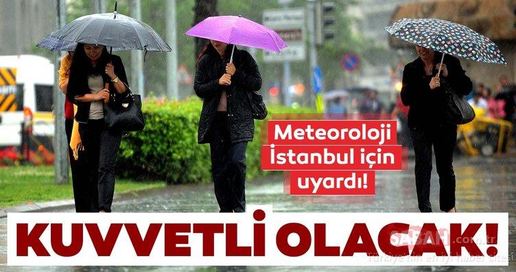 Meteoroloji'nden son dakika hava durumu ve yağış bildirimi geldi! İstanbullular bu uyarıya dikkat!