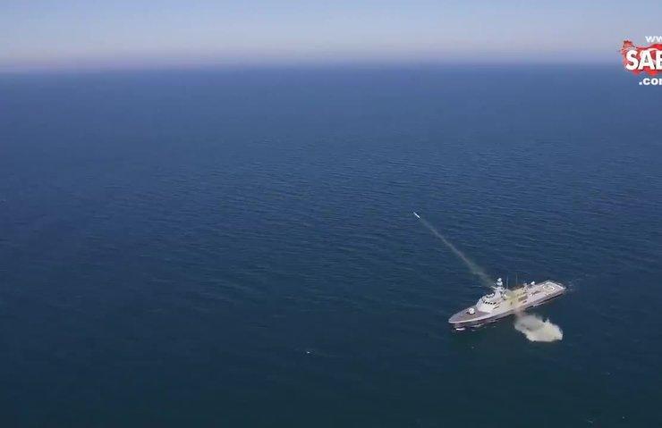 İşte ATMACA'nın vurduğu geminin son hali | Video