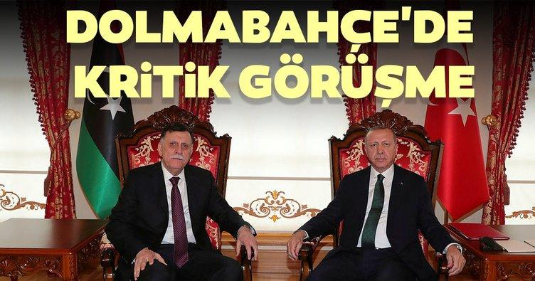 Son dakika: Başkan Recep Tayyip Erdoğan ve Serrac görüşmesi sona erdi