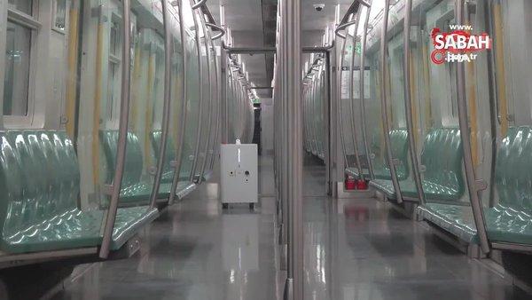 Çin'de robotlar, metrolarda dezenfektasyon için görev başında | Video