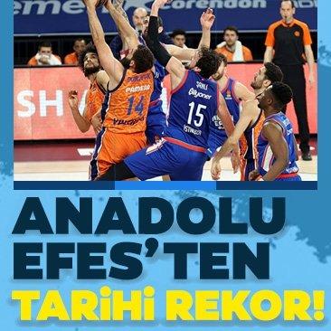 Son dakika! Anadolu Efes'ten tarihi galibiyet! 18 3'lük...